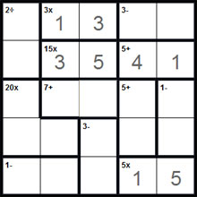 graphic regarding Kenken Printable Puzzles identified as Calcudoku Puzzles via Puzzle Baron